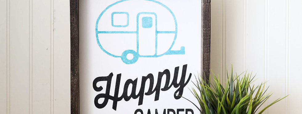 HAPPY CAMPER- WOOD SIGN