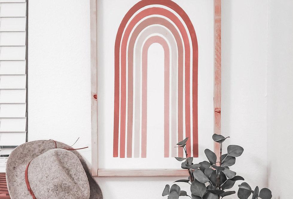 Modern Rainbow Wood Sign