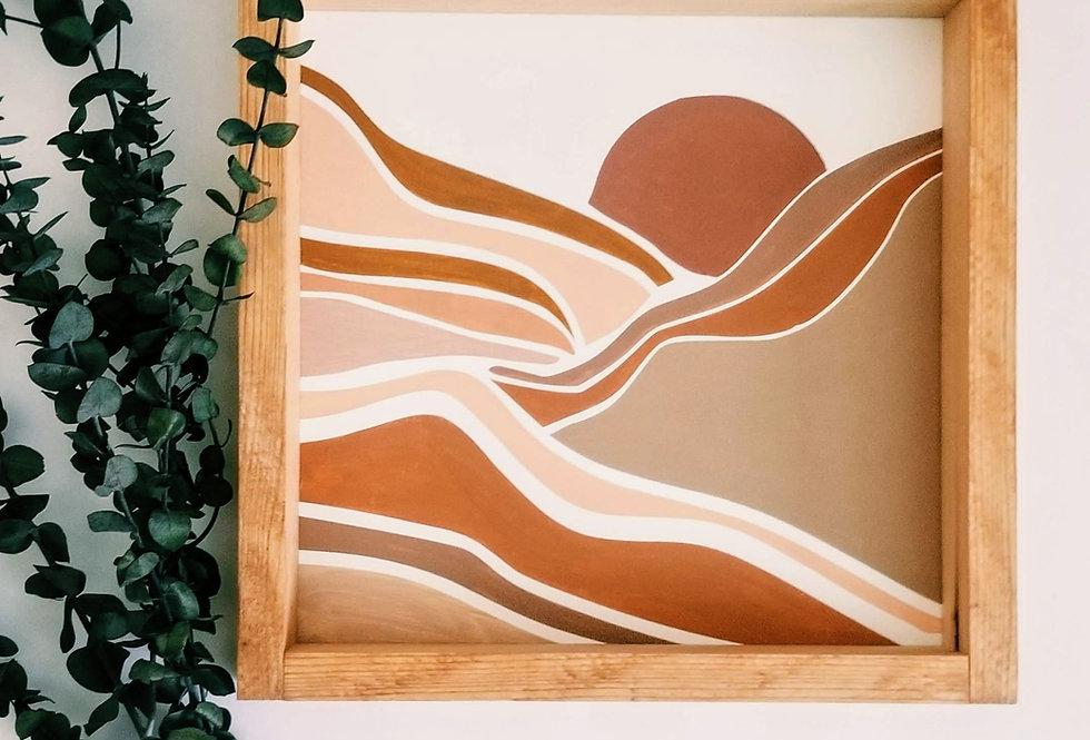 Desert Sands Wood Sign