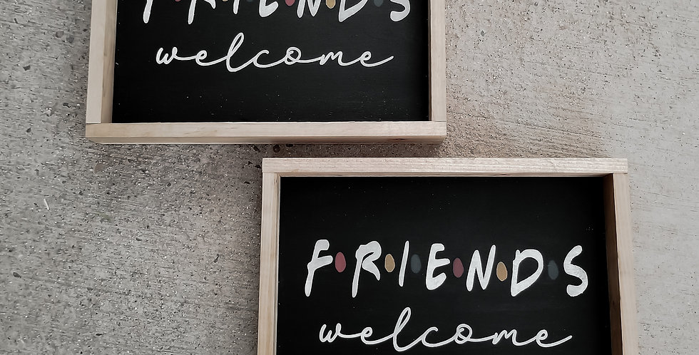 FRIENDS wood sign