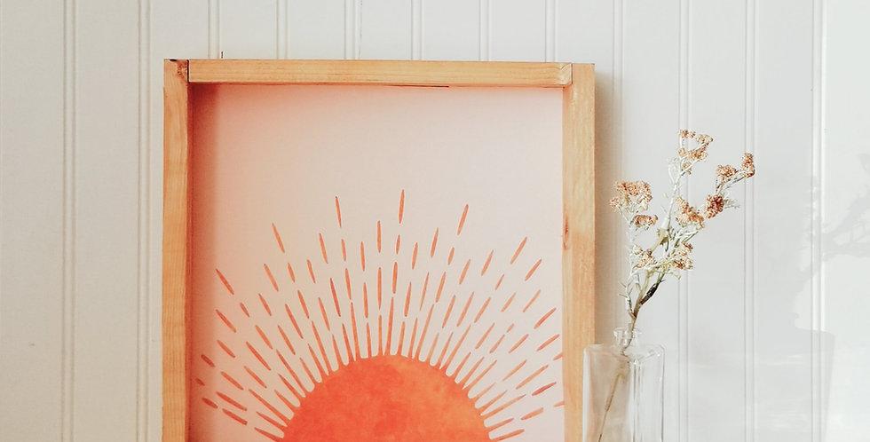 Terracotta Sunrise- Wood Sign
