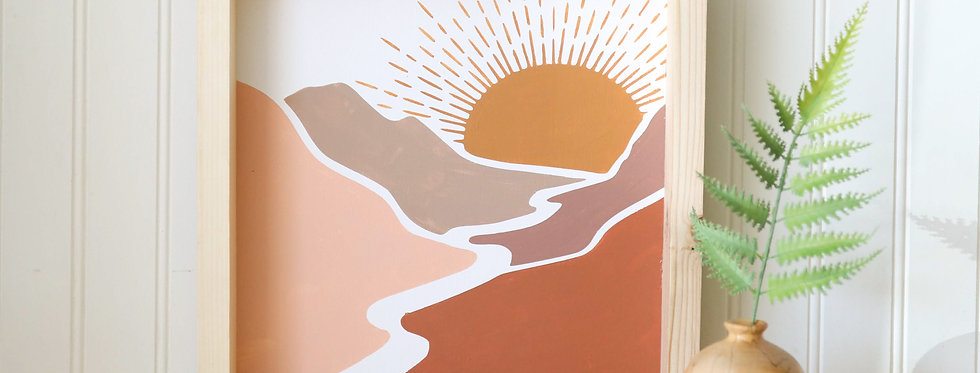Terracotta Sunset- Wood Sign