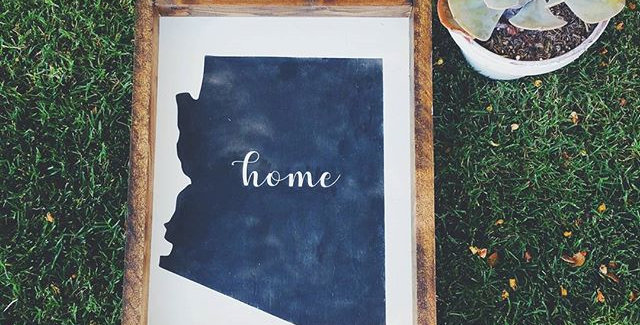 State of AZ-Home - Modern- Wooden Frame