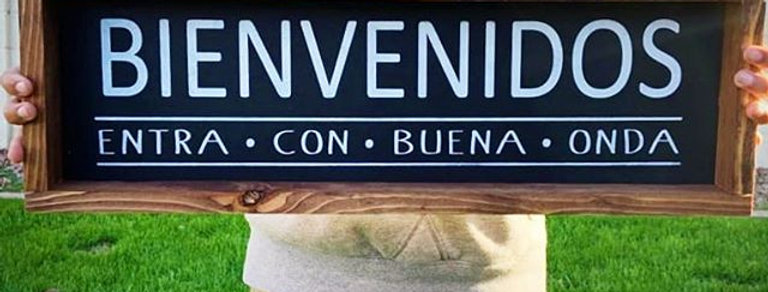 Bienvenidos/Welcome- Wood Sign– Wood Home Wall Décor - Spanish Wood Sign Decor