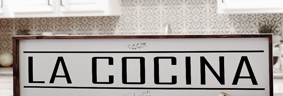 LA COCINA Wood Sign