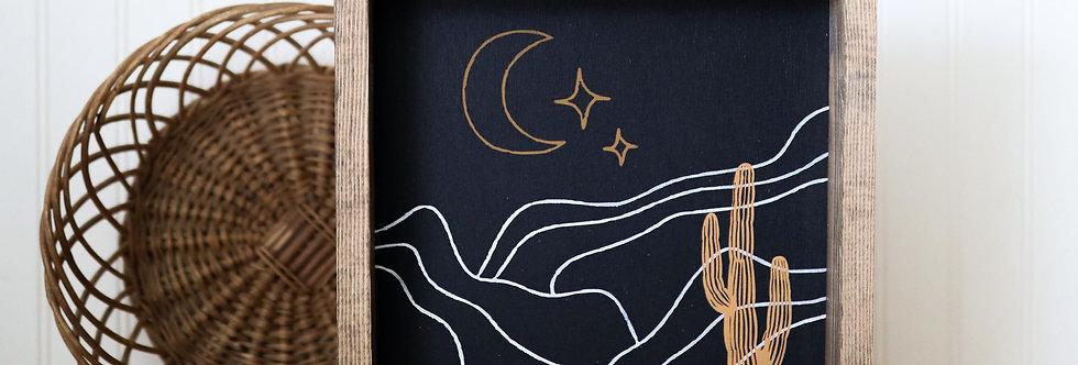 Boho Desert in the Moon-Wood Sign