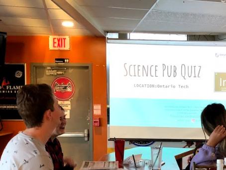 Pub Night: having fun with science trivia!