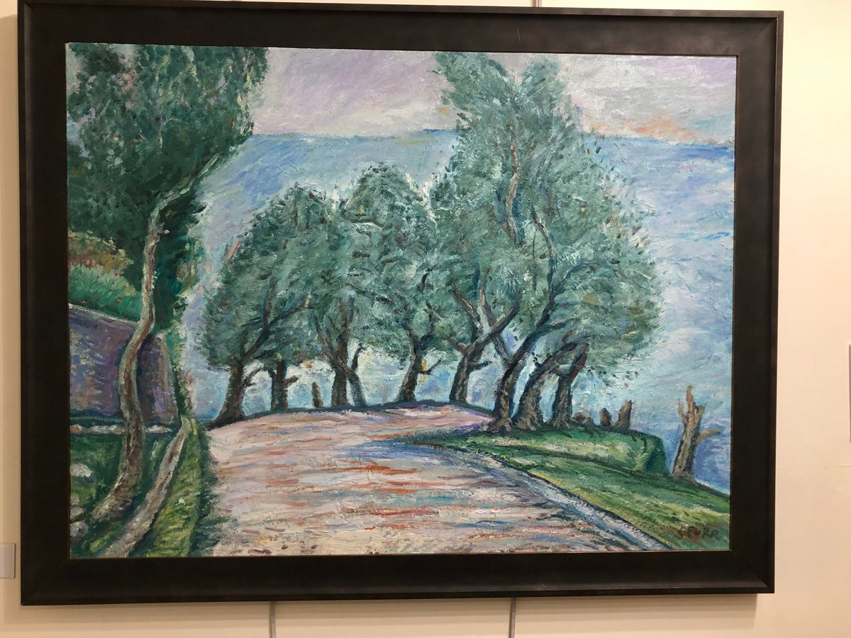 Country Road with Olive Trees