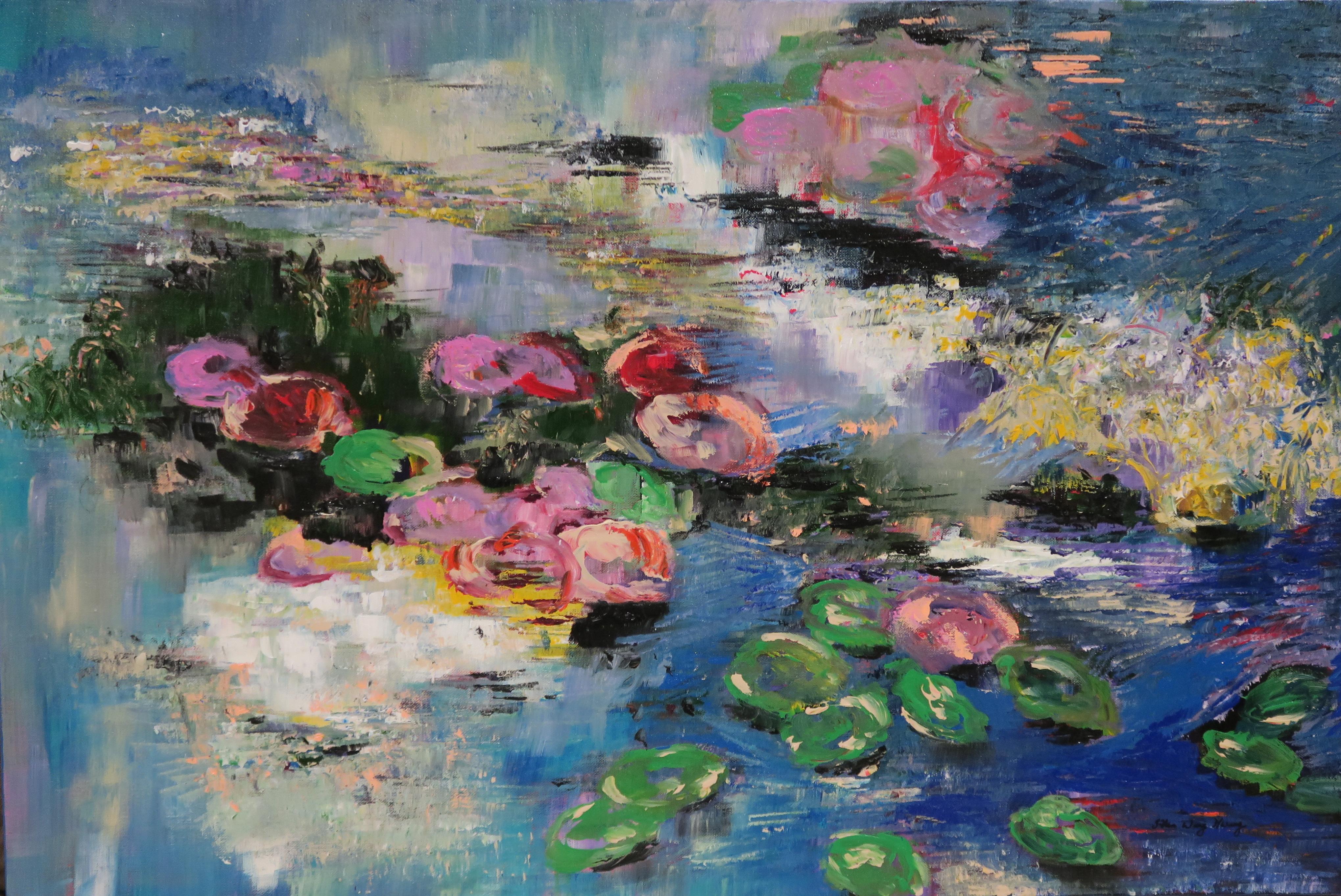Lily Pond (2016) 36 x 24