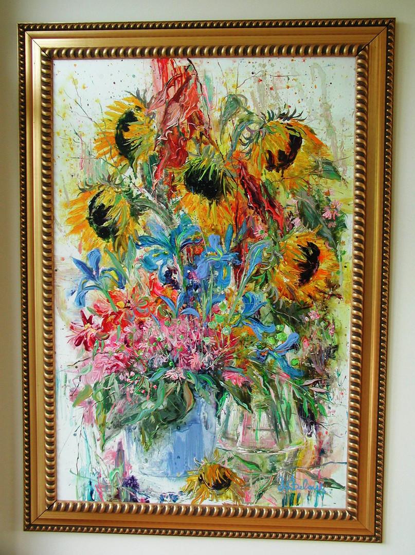 les Fleurs - Sunflowers & Lilies.JPG