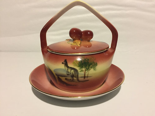 Art Deco jam jar with Kangaroo