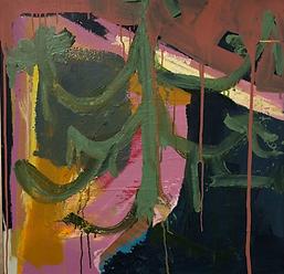 Green Chandelier, oil on canvas, 36 x 36