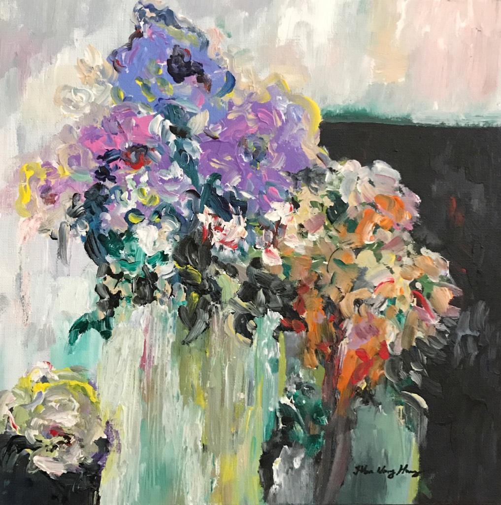 White Vase Bouquet I