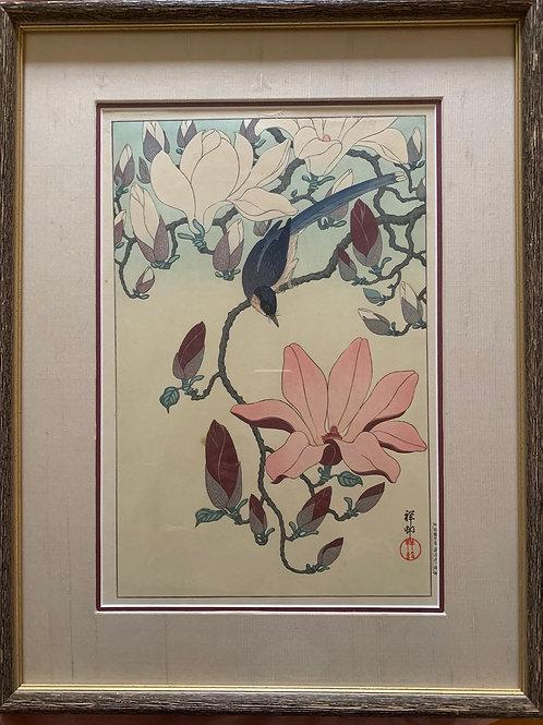 Songbird on Pink Magnolia