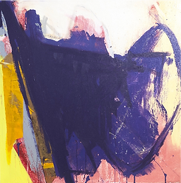 Purple Stuff, oil on canvas, 36 x 36