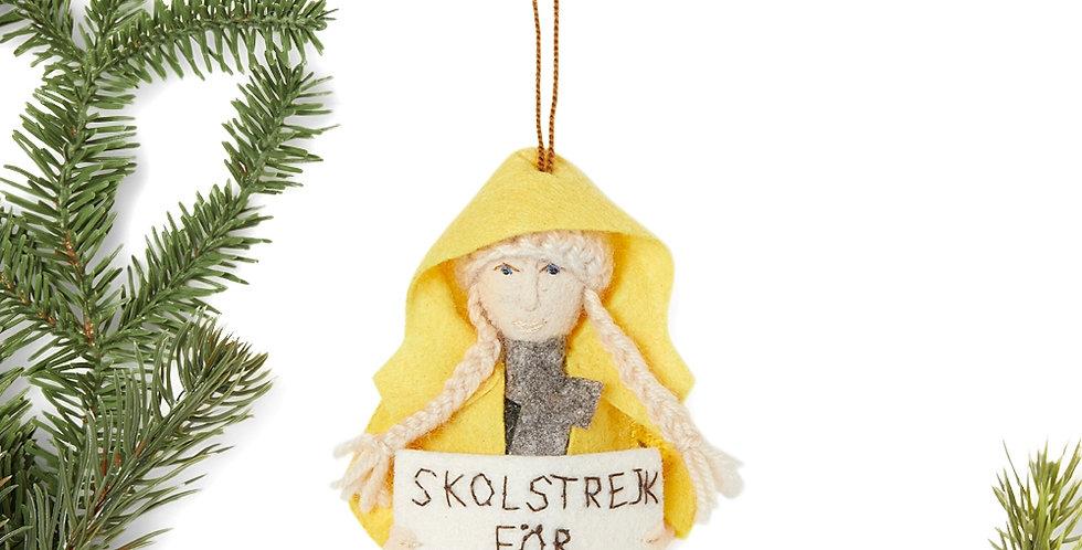Greta Thunberg - Swedish Ornament