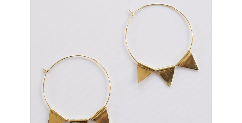 Abaco Gold Hoops