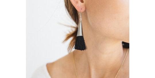 Fabiola Earrings Black