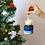 Thumbnail: Blue Pom Pom Basket Ornament