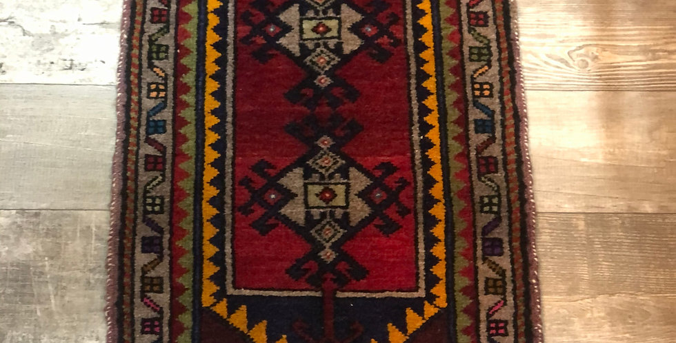 Vintage Turkish Rug - Red