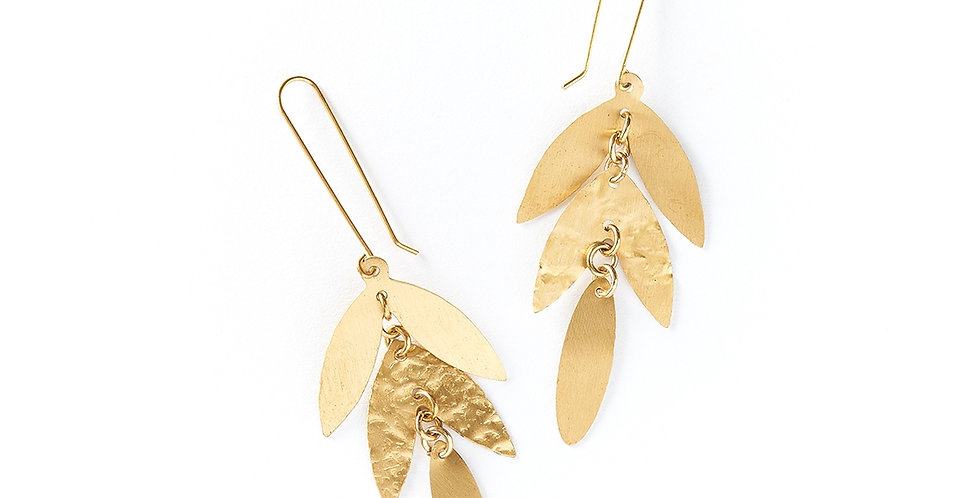 Chameli Earrings - Leaf Drop