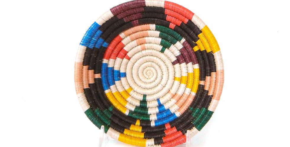 Black and Neon Nyota Round Basket