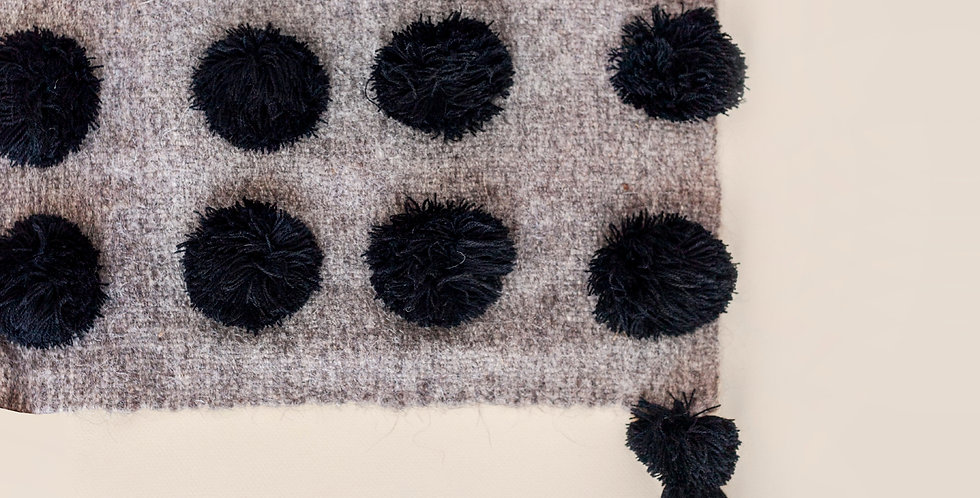ULA Throw - Black and Grey