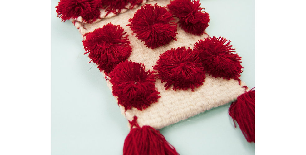 CHIAPAS Pom Pom Purse - Red