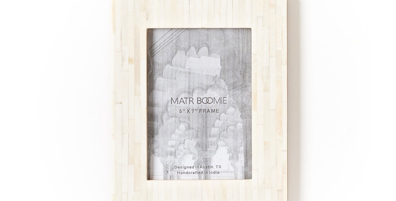Inlay and Bone Stripe Frame - 5x7