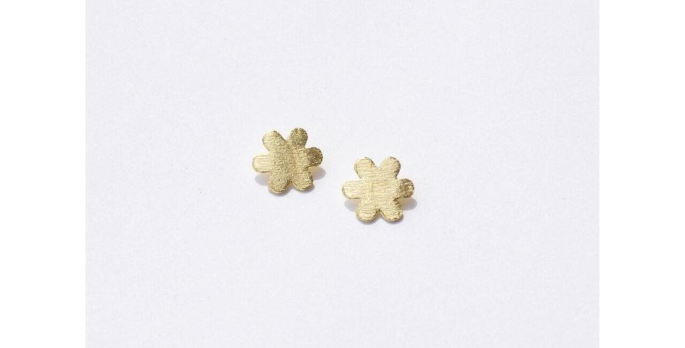 Gold Petite Flower Studs