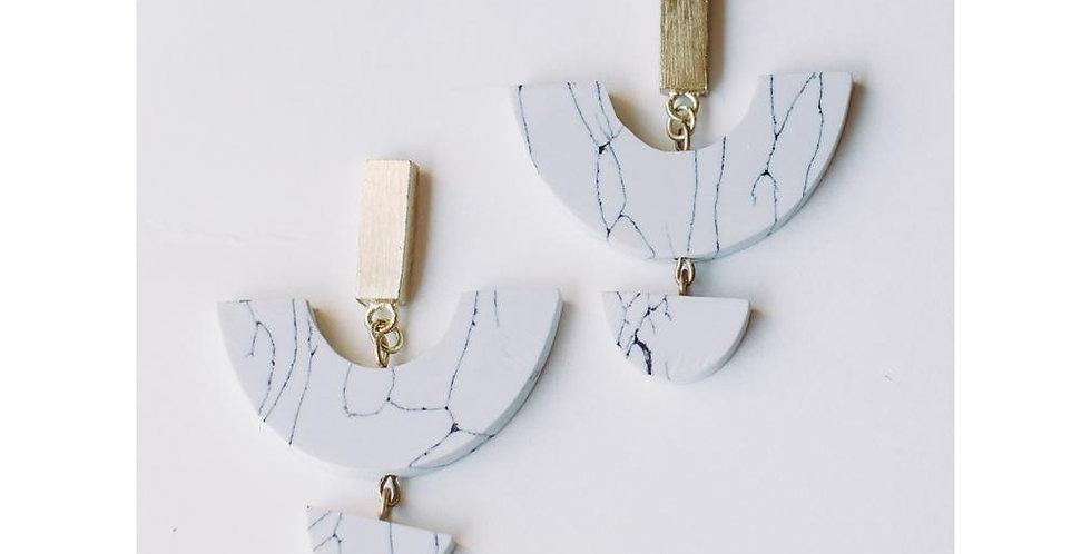 Sculptural Marble Studs