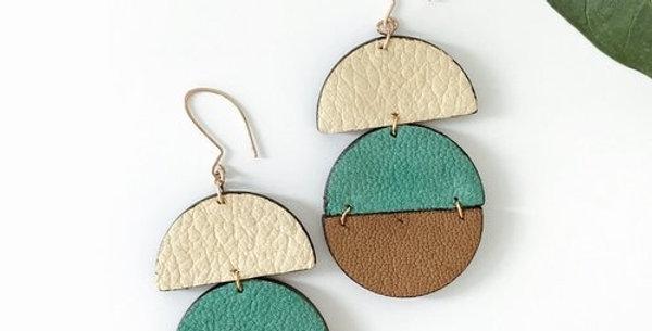 Gia Leather Earrings