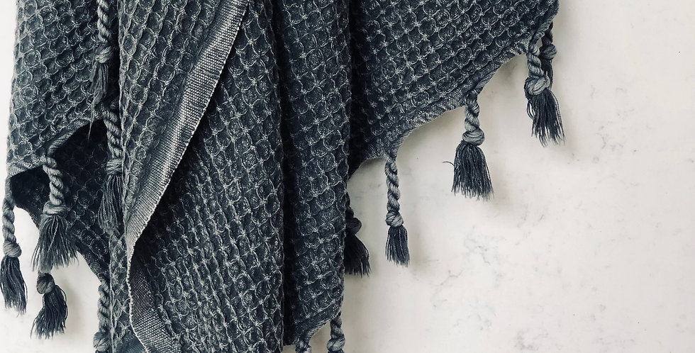 Merkati Blanket - Charcoal