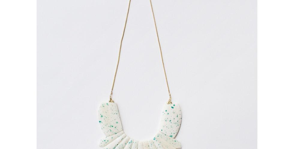 Blue Seurat Speckle Necklace