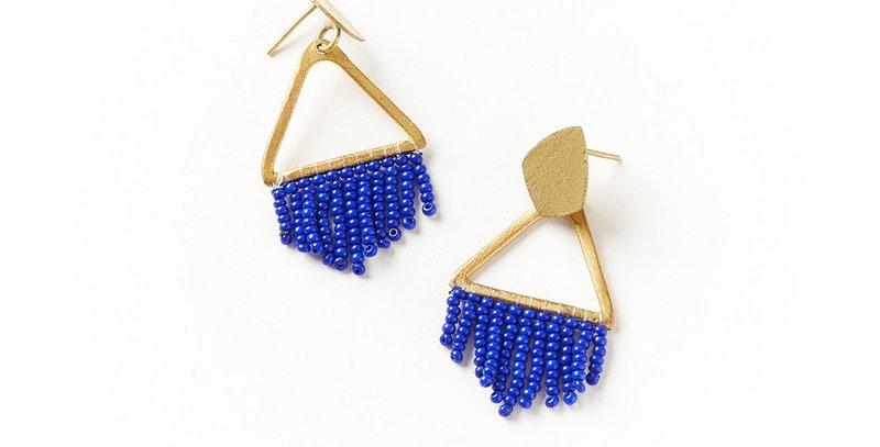 Kalapriya Earrings - Navy Diamond