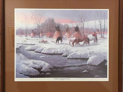 Daybreak on Lodgepole Creek Framed Print by Ted Long