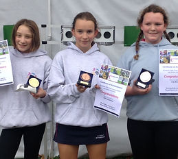 Air Pistol Run/shoot competition winners Surrey Modern Pentathlon Club