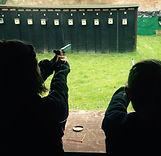 Surrey Modern Pentathlon Club members shooting at Bookham RC