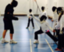 Surrey Modern Pentathlon Club fencing training