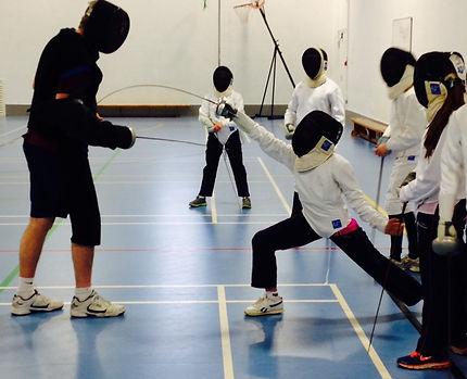 Surrey Modern Pentathlon Club fencing training