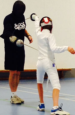 Fencing at Surrey Modern Pentathlon Club