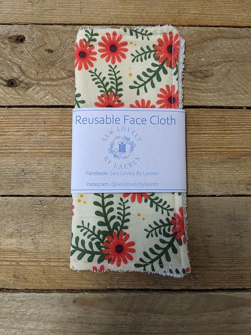 Reusable face cloth
