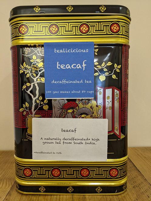 Teacaf - decaffeinated loose-leaf tea 100g