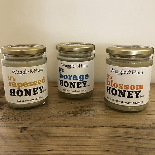 Waggle and Hum Honey 340g jar