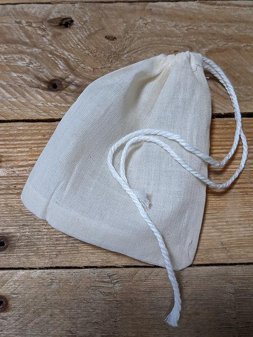 Teabag - reusable cotton muslin mesh bag