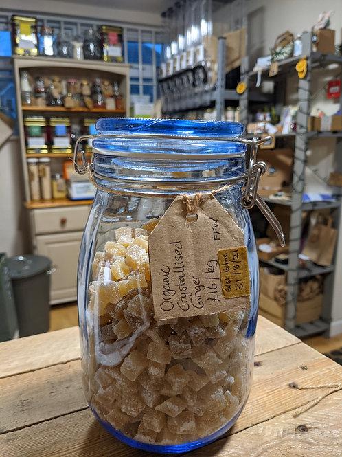 Organic Crystallised Ginger - 100g
