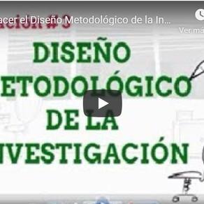 Capacitación #3: Diseño metodológico de la investigación.