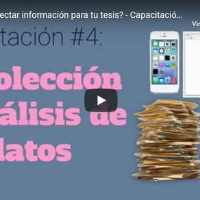 Capacitación #4: Recolección y análisis de datos.