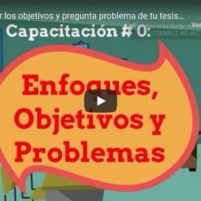 Capacitación #0: Enfoque, objetivos y problema.