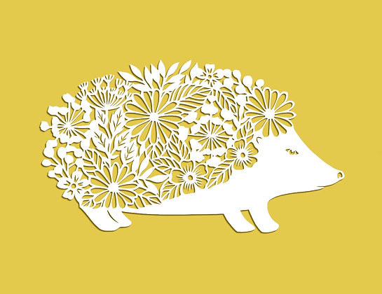 FLORAL HEDGEHOG